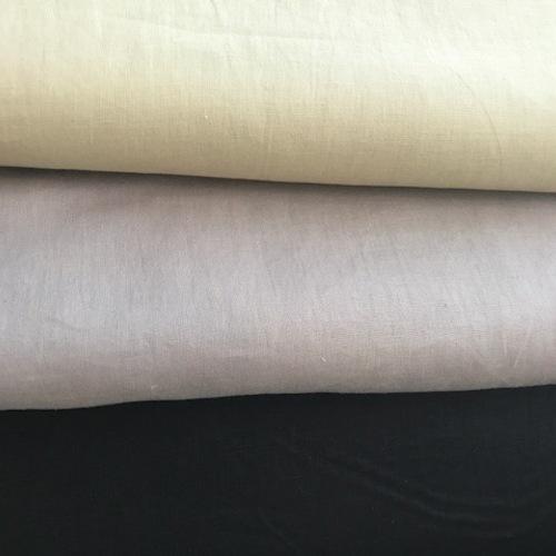 アパレル使用のモード色のリネン100%生地が入荷しました。