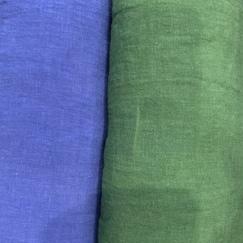 ブルーとグリーンの美しいフランスのリネンが入荷しました。